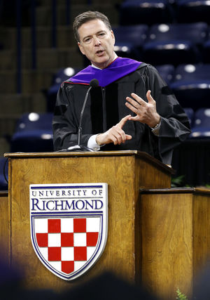 Commencement Remarks of FBI Director James Comey to University of Richmond School of Law Class of 2016